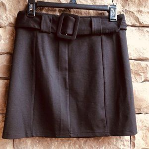 ✨Forever 21 Belted Black Mini Skirt SZ Medium✨